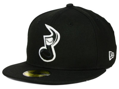 Nashville Sounds New Era MiLB Black and White 59FIFTY Cap