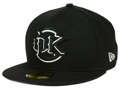 Oklahoma City Redhawks New Era MiLB Black and White 59FIFTY Cap