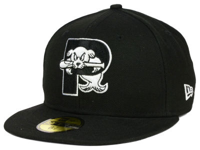 Portland Sea Dogs New Era MiLB Black and White 59FIFTY Cap