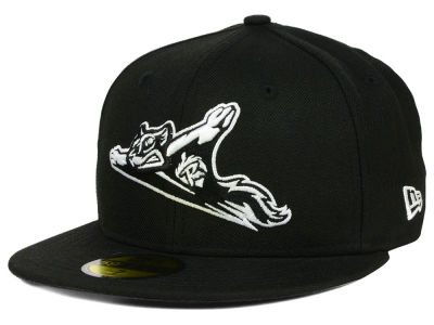 Richmond Flying Squirrels New Era MiLB Black and White 59FIFTY Cap