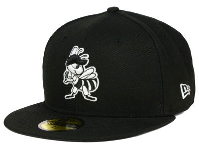 Salt Lake Bees New Era MiLB Black and White 59FIFTY Cap