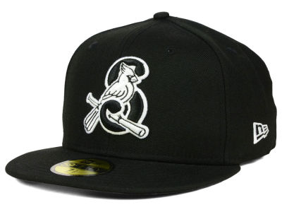 Springfield Cardinals New Era MiLB Black and White 59FIFTY Cap