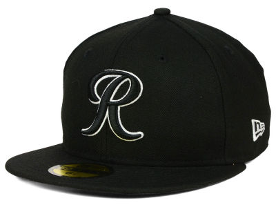 Tacoma Rainiers New Era MiLB Black and White 59FIFTY Cap