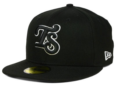 Tennessee Smokies New Era MiLB Black and White 59FIFTY Cap