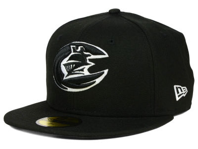 Charlotte Knights New Era MiLB Black and White 59FIFTY Cap