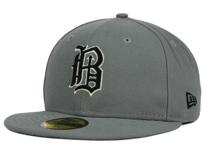Birmingham Barons New Era MiLB Gray Black White 59FIFTY Cap