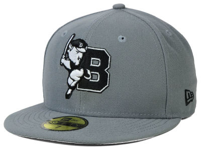 Buffalo Bisons New Era MiLB Gray Black White 59FIFTY Cap