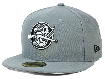 Charleston RiverDogs New Era MiLB Gray Black White 59FIFTY Cap