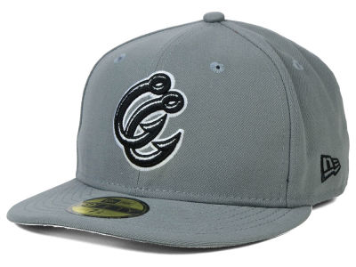 Corpus Christi Hooks New Era MiLB Gray Black White 59FIFTY Cap