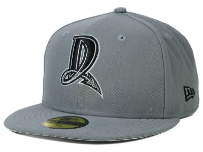 Dayton Dragons New Era MiLB Gray Black White 59FIFTY Cap
