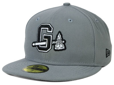 Gwinnett Braves New Era MiLB Gray Black White 59FIFTY Cap
