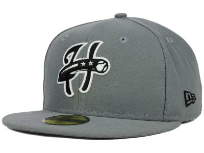 Harrisburg Senators New Era MiLB Gray Black White 59FIFTY Cap