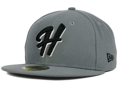 Hillsboro Hops New Era MiLB Gray Black White 59FIFTY Cap