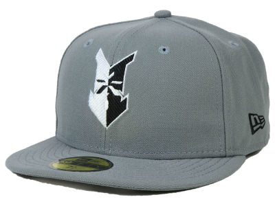 Indianapolis Indians New Era MiLB Gray Black White 59FIFTY Cap