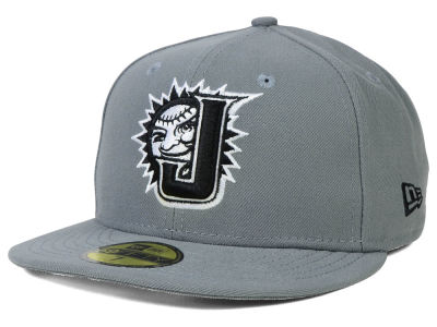 Jacksonville Suns New Era MiLB Gray Black White 59FIFTY Cap