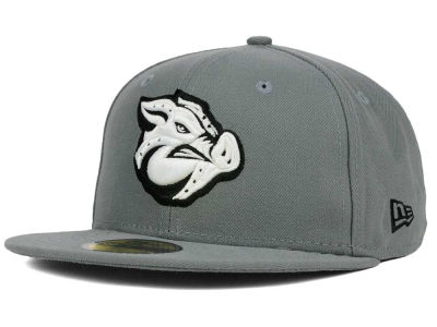 Lehigh Valley IronPigs New Era MiLB Gray Black White 59FIFTY Cap