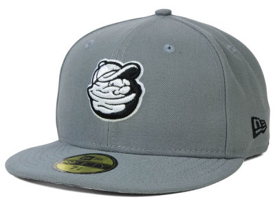 Modesto Nuts New Era MiLB Gray Black White 59FIFTY Cap