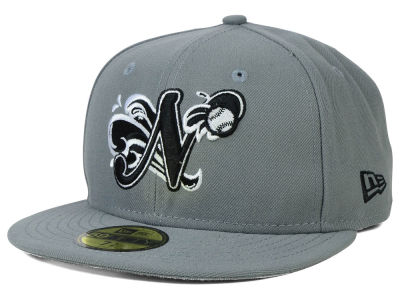 Norfolk Tides New Era MiLB Gray Black White 59FIFTY Cap