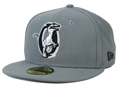 Ogden Raptors New Era MiLB Gray Black White 59FIFTY Cap
