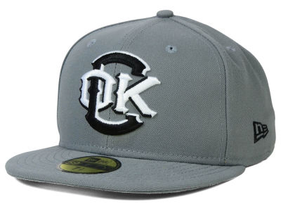Oklahoma City Redhawks New Era MiLB Gray Black White 59FIFTY Cap