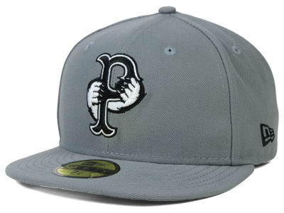 Pawtucket Red Sox New Era MiLB Gray Black White 59FIFTY Cap