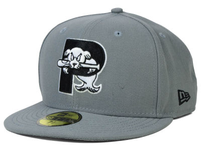 Portland Sea Dogs New Era MiLB Gray Black White 59FIFTY Cap