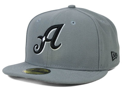 Reno Aces New Era MiLB Gray Black White 59FIFTY Cap