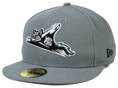 Richmond Flying Squirrels New Era MiLB Gray Black White 59FIFTY Cap