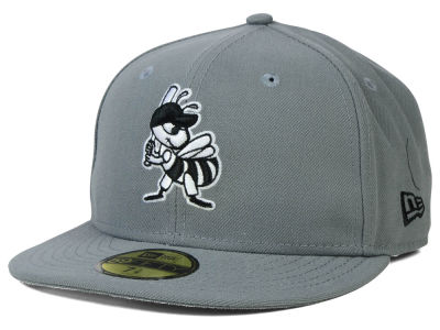 Salt Lake Bees New Era MiLB Gray Black White 59FIFTY Cap