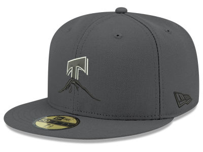 Tacoma Rainiers New Era MiLB Gray Black White 59FIFTY Cap