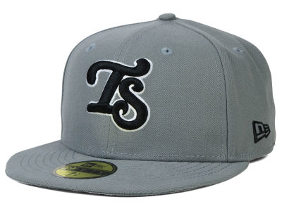 Tennessee Smokies New Era MiLB Gray Black White 59FIFTY Cap