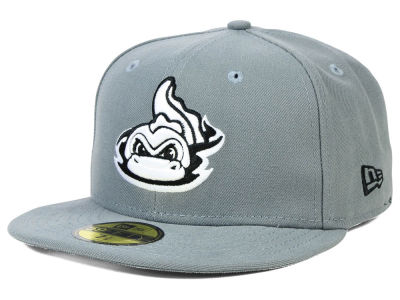 Vermont Lake Monsters New Era MiLB Gray Black White 59FIFTY Cap