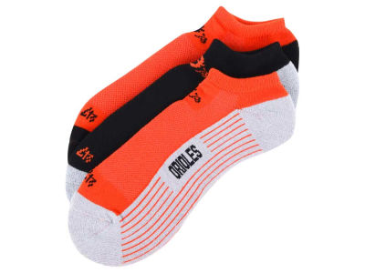 Baltimore Orioles 3-pack Sportlite Float No Show Socks