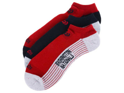 Washington Nationals 3-pack Sportlite Float No Show Socks