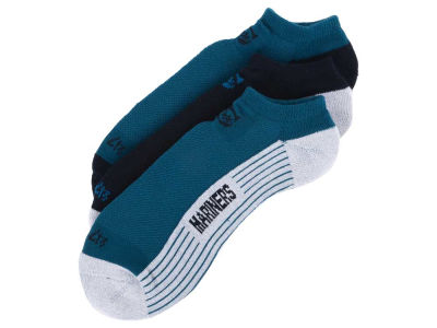 Seattle Mariners 3-pack Sportlite Float No Show Socks