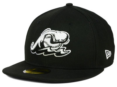 West Michigan Whitecaps New Era MiLB Black and White 59FIFTY Cap