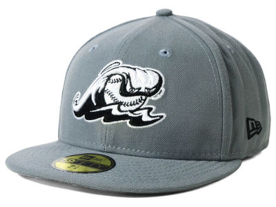 West Michigan Whitecaps New Era MiLB Gray Black White 59FIFTY Cap