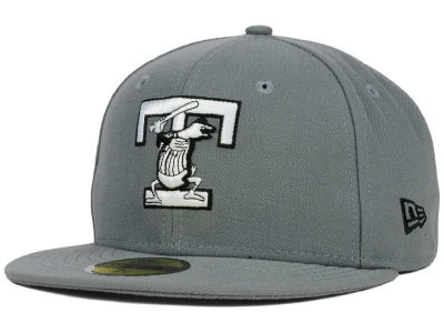 Toledo Mud Hens New Era MiLB Gray Black White 59FIFTY Cap