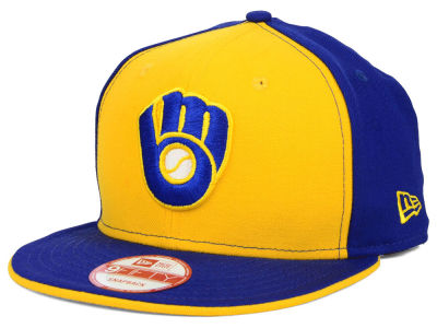 Milwaukee Brewers New Era MLB Coop Flip 9FIFTY Snapback Cap