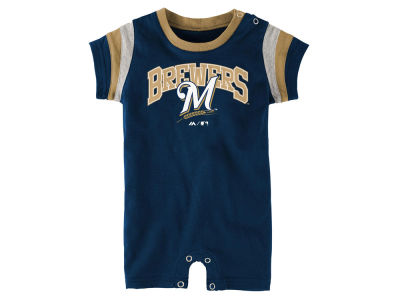 Milwaukee Brewers MLB Infant Batter Romper