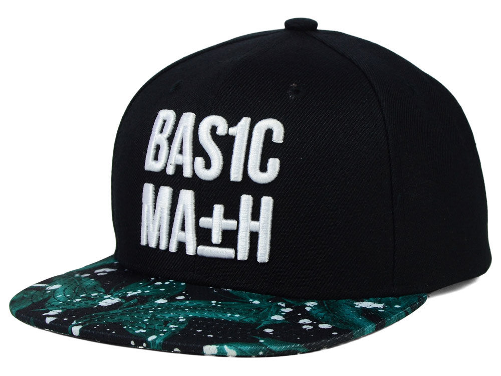 Basic Math Floral Splat Snapback Hat  b6c821f3e841