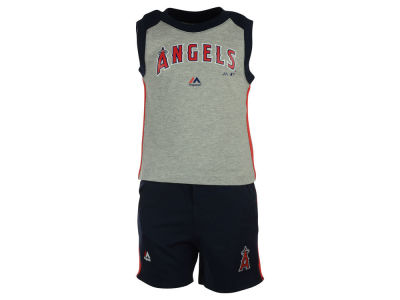 Los Angeles Angels MLB Toddler Muscle Tank & Short Outfit