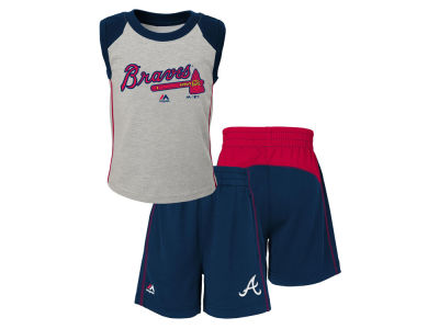 Atlanta Braves MLB Toddler Muscle Tank & Short Outfit