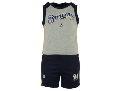 Milwaukee Brewers MLB Toddler Muscle Tank & Short Outfit