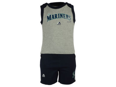 Seattle Mariners MLB Toddler Muscle Tank & Short Outfit