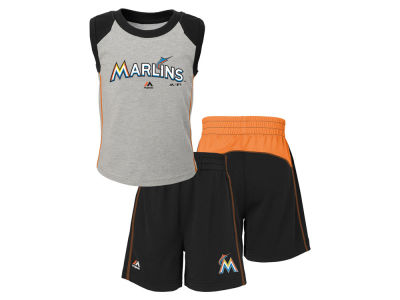 Miami Marlins MLB Toddler Muscle Tank & Short Outfit