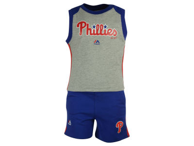 Philadelphia Phillies MLB Toddler Muscle Tank & Short Outfit