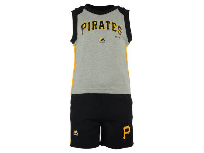 Pittsburgh Pirates MLB Toddler Muscle Tank & Short Outfit