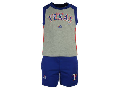 Texas Rangers MLB Toddler Muscle Tank & Short Outfit