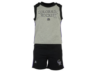 Colorado Rockies MLB Toddler Muscle Tank & Short Outfit